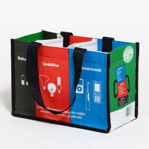 Källsortering av batterier, småelektronik och glödlampor